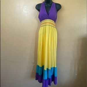 Speed Control Halter Maxi Sun Dress Size S  Y-23